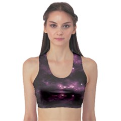 Dark Photorealistic Galaxy Design Women s Sport Bra by CoolDesigns