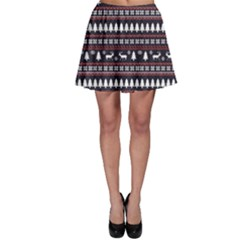 Black Christmas Pattern Pattern Skater Dress