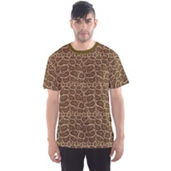 Brown Python Snakeskin Pattern Repeats Seamlessly Men s Sport Mesh Tee