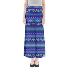 Navy Tribal Maxi Skirt by CoolDesigns