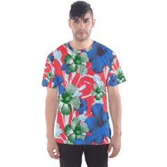 Hawaii Red Floral Men s Sport Mesh Tee by CoolDesigns
