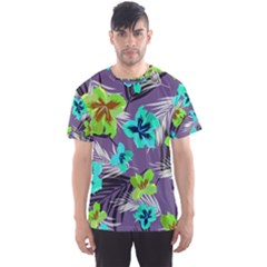 Hawaii Purple Floral Men s Sport Mesh Tee by CoolDesigns