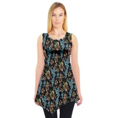 Black&blue Sleeveless Tunic Top by CoolDesigns