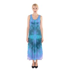 Aqua Tie Dye 2 Sleeveless Maxi Dress by CoolDesigns