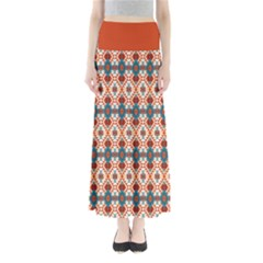 Orange Aztec Maxi Skirt by CoolDesigns