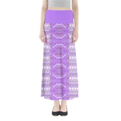Purple Knitting Maxi Skirt by CoolDesigns
