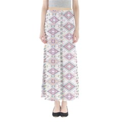 White Aztec Maxi Skirt by CoolDesigns