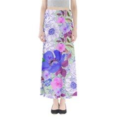 Mint Floral Maxi Skirt by CoolDesigns