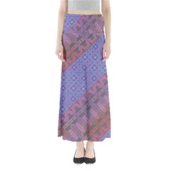 Colorful Squares Maxi Skirt by CoolDesigns
