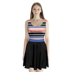 Pink Stripes Split Back Mini Dress  by CoolDesigns