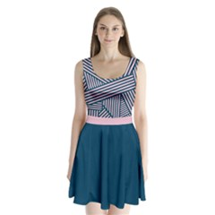 Pink Stripes 2 Split Back Mini Dress  by CoolDesigns
