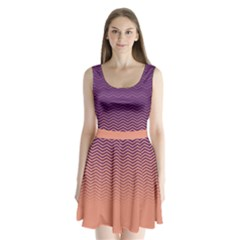 Purple Chevron Split Back Mini Dress  by CoolDesigns