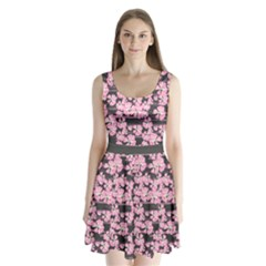 Pink Sakura Split Back Mini Dress  by CoolDesigns
