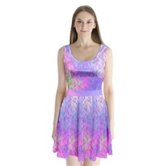 Purple Gradient Split Back Mini Dress  by CoolDesigns