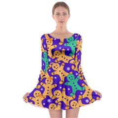 Purple Gingerman Long Sleeve Skater Dress by CoolDesigns
