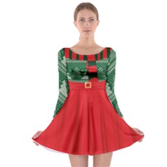 Xmas Costume 3 Long Sleeve Skater Dress by CoolDesigns
