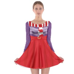 Xmas Costume 5 Long Sleeve Skater Dress by CoolDesigns