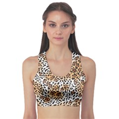 Brown Far Eastern Leopard Fur Print Women s Sport Bra by CoolDesigns