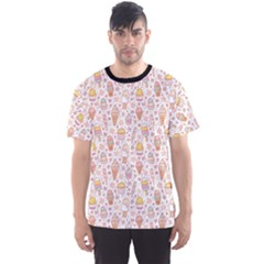 Colorful Yummy Ice Cream Pattern Men s Sport Mesh Tee