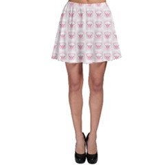 Pink Cute Pig Pattern With Pink Pig Faces Skater Dress by CoolDesigns