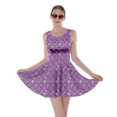 Purple Day Of The Dead Sugar Skull Skater Dress by CoolDesigns