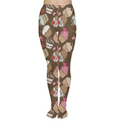 Colorful Pattern Of Tasty Cupcakes Tights by CoolDesigns
