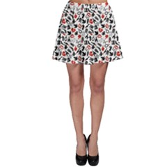 Black Death Pattern Skater Skirt by CoolDesigns
