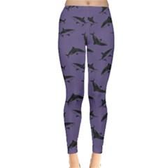 Purple Shark Leggings  by CoolDesigns