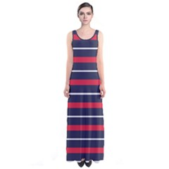 Nautical Stripes Sleeveless Maxi Dress by CoolDesigns
