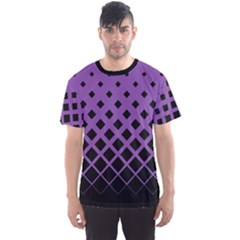 Purple Gradient Rhombuses Men s Sport Mesh Tee by CoolDesigns