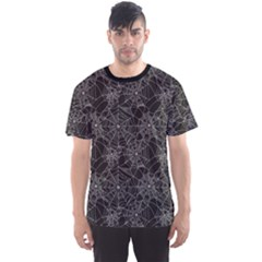 Black Halloween Spider Web Pattern Men s Sport Mesh Tee by CoolDesigns