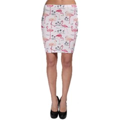 Colorful Flamingo Bird Pattern Bodycon Skirt by CoolDesigns