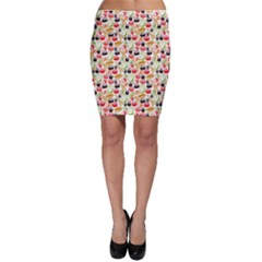 Colorful Tone Sushi Set Meal Pattern Bodycon Skirt by CoolDesigns