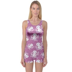 Purple Cute Octopus Stylish Design Women s One Piece Swimsuit by CoolDesigns