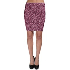 Purple Pink Leopard Texture Pattern Bodycon Skirt