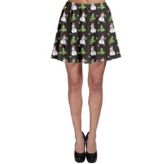 Dark Snowman Christmas Pattern Color Skater Skirt