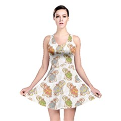 Colorful Indian Elephant Pattern Reversible Skater Dress
