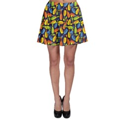 Colorful Colored Bowling Pattern Skater Skirt by CoolDesigns