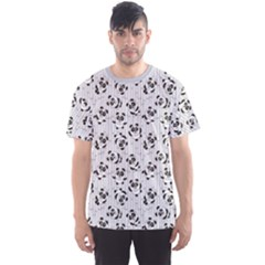 Gray Pattern With Cartoon Pandas Kids Men s Sport Mesh Tee by CoolDesigns
