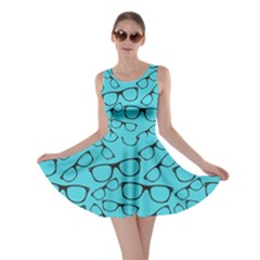 Aqua Glasses Skater Dress by CoolDesigns