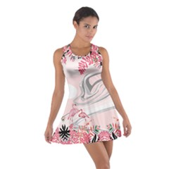 Flamingo Ink 2 Cotton Racerback Dress
