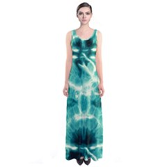 Turquoise Tie Dye 2 Sleeveless Maxi Dress by CoolDesigns