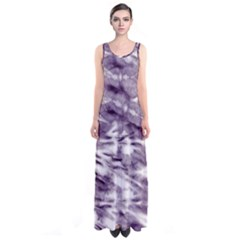 Violet Tie Dye Sleeveless Maxi Dress by CoolDesigns