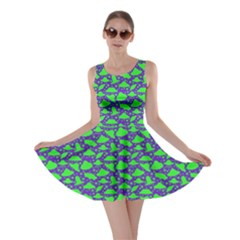 Ufo Neon Green Skater Dress by CoolDesigns