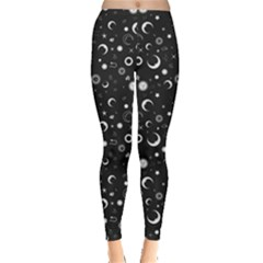 Black Monochrome With The Night Sky For Your Design Women s Leggings by CoolDesigns