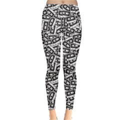 Blue Cassettes Pattern In Retro Style Women s Leggings by CoolDesigns