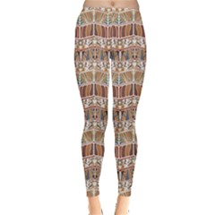 Brown Tribal Pattern In The African Style Women s Leggings by CoolDesigns
