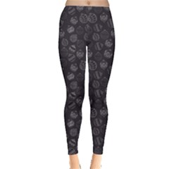 Black Christmas Ball Pattern Women s Leggings by CoolDesigns
