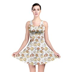 Colorful Donut Pattern Reversible Skater Dress by CoolDesigns