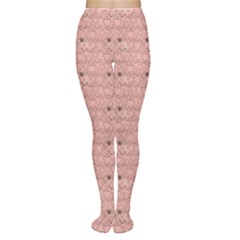 Pink Pattern With Cats Women s Tights